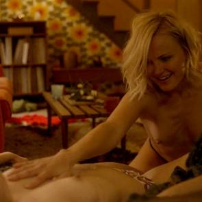 Malin Akerman and Kate Micucci Boobs Lesbian Scene In Easy TV Show