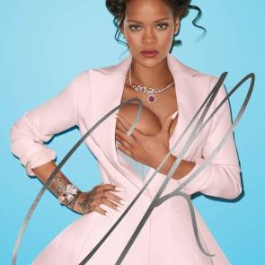 Rihanna squeezing her tit for CR Magazine