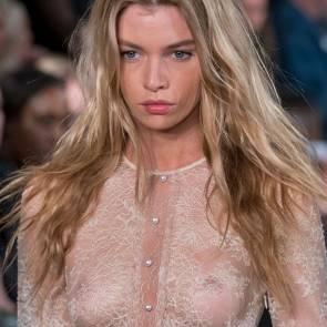 Stella Maxwell nipples fashion show