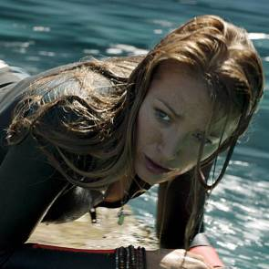 blake lively in water behind the scenes from the shallows movie