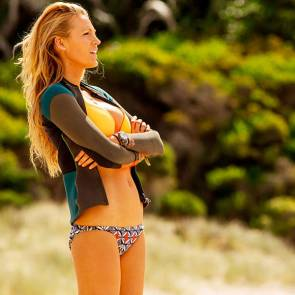 blake lively with crossed arms and in bikini