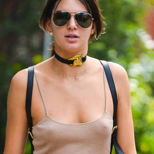 Kendall Jenner Nipples Pokies In NYC