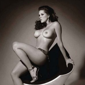 Alicia Machado on chair sexy