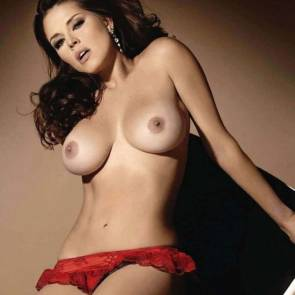 Alicia Machado only in red panties
