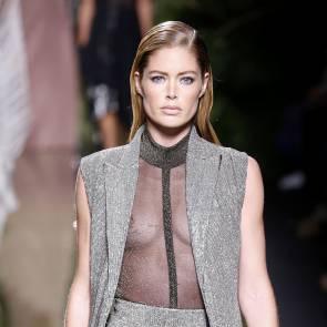 Doutzen Kroes nipple on Balmain fashion show