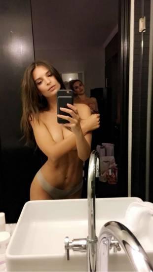 Emily Ratajkowski Sexy In Bathroom