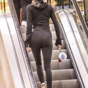 Kendall Jenner in see through leggings