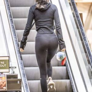 Kendall Jenner Panties In See Through Leggings