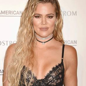 Khloe Kardashian Nipples In See Through Top