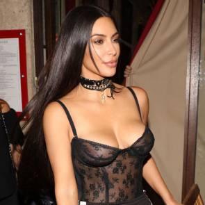 Kim Kardashian Squeezes Nipples