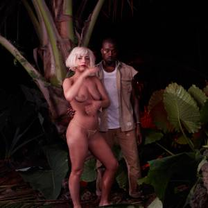 Lady Gaga Boobs Leaked Pic With Kanye West