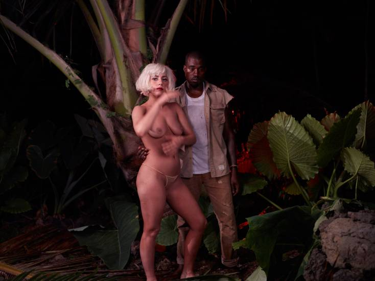 Lady Gaga Boobs With Kanye West
