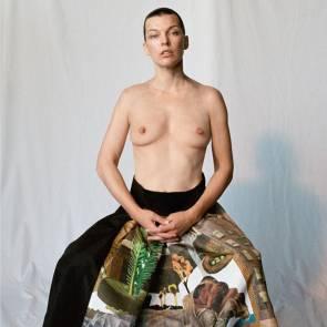 Milla Jovovich Boobs For Pop Magazine