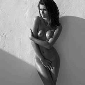 Sara Sampaio Nude By The Wall