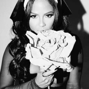 christina milian eating rose candy for Galore Magazine