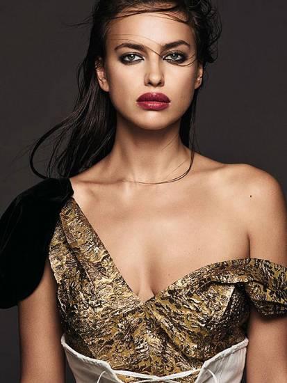 irina shayk bare shoulder