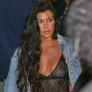 kourtney kardashian see through top