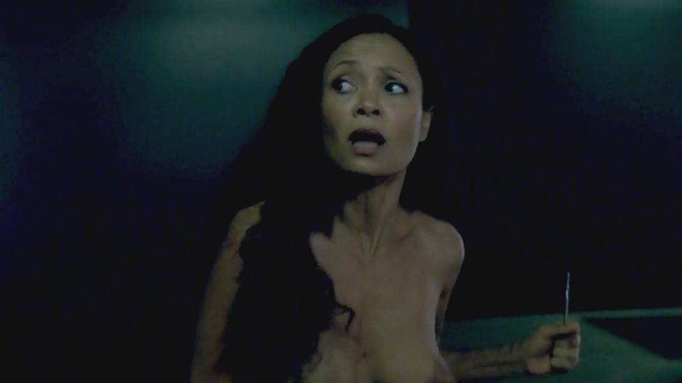 Thandie Newton Boobs In Westworld TV Show
