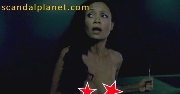 Thandie Newton Boobs In Westworld TV Show FREE VIDEO
