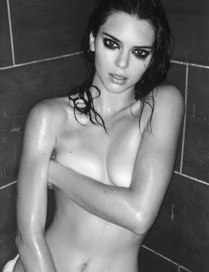image Kendall jenner topless covered behind the scene nyfw