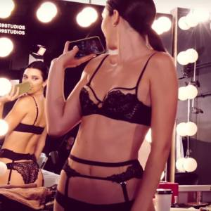 Kendall Jenner Sexy In Night Lingerie