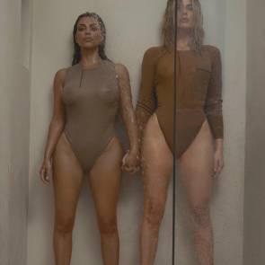 k see through bikini Kim