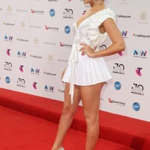 charli xcx white dress in sidney