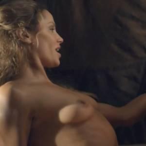 Ellen Hollman Nude Sex Scene In Spartacus Series