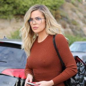 khloe kardashian hard nipples in tight dress