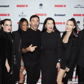 Bella Hadid, Naomi Campbell and Marina Abramovic in Guggenheim Museum