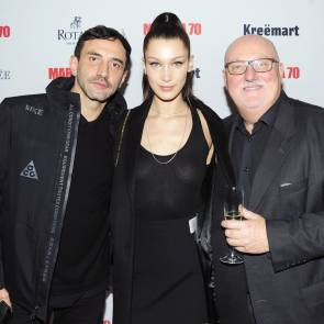 Bella Hadid with some guys at Marina Abramovic Birthday Party