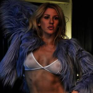 Ellie Goulding Topless In See Through Top