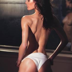 Hilary Rhoda ass in panties