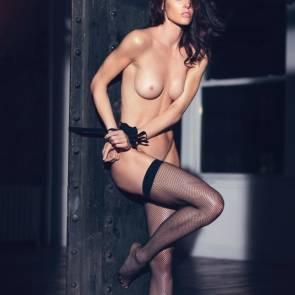 Hilary Rhoda boobs in lui magazine calendar