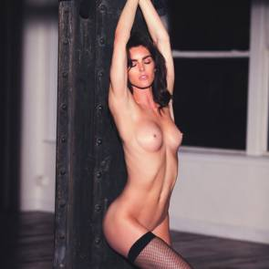 Hilary Rhoda topless