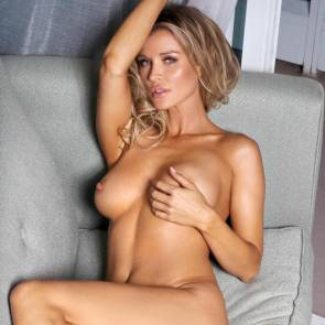 Joanna Krupa naked on sofa