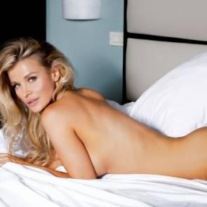 Joanna Krupa on bed nude