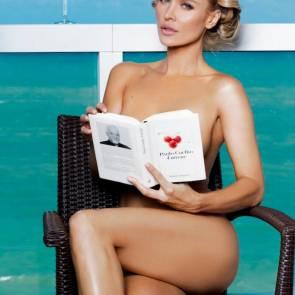 Joanna Krupa reading book naked