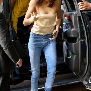 Kendall Jenner braless in small top