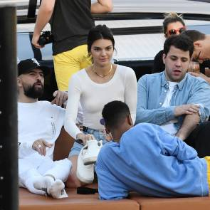 Kendall Jenner with some duds on a boat near miami