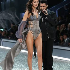 bella hadid and weeknd at victoria's secret