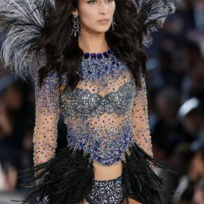 bella hadid with her wings