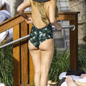 chanel west coast ass in one piece bikini
