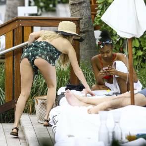 chanel west coast bend over in bikini