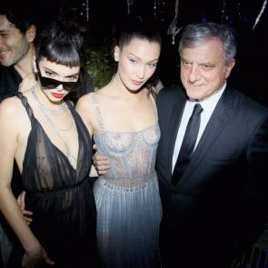 Bella Hadid boobs in sheer dress