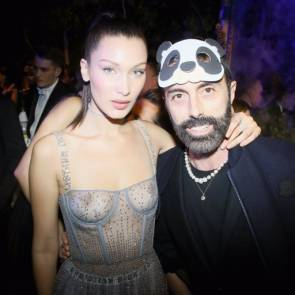 Bella Hadid with some guy