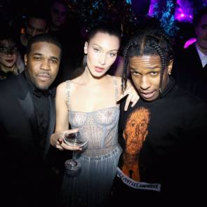 Bella Hadid with rappers