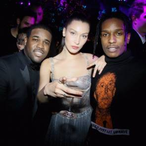 Bella Hadid with black dudes