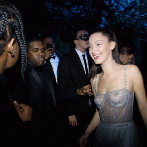 Bella Hadid Laughing at dior ball