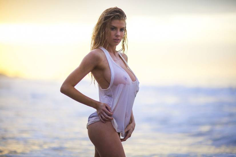 Charlotte McKinney sexy in see through